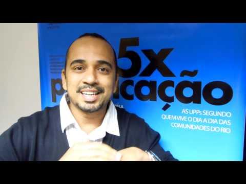 5x Pacificação - Luciano Vidigal fala durante exibição no Cantagalo - 16 de novembro nos cinemas