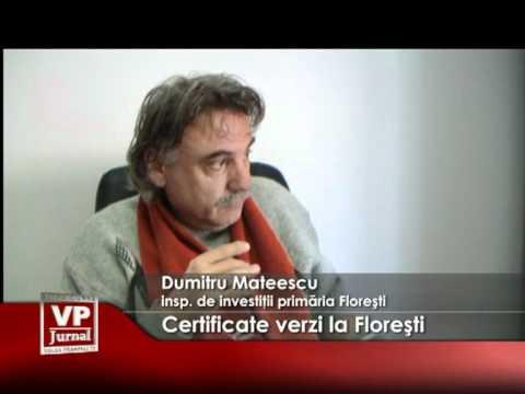 Certificate verzi la Floreşti
