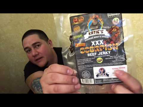 Snack Review - Katie's Premium Jerky & Snacks [ Scorpion XXX AND! 5X Beef Jerky (SPICY!) ] - MrMaD