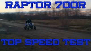 7. 2016 Yamaha Raptor 700r Top Speed Test [Radar gun]