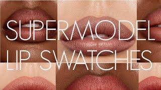 CHARLOTTE TILBURY SUPERMODEL LIPS! SWATCHES by Wayne Goss