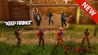 FIRST EVER Fortnite: BLACK OPS ZOMBIES NEW GAMEMODE! ZOMIBES IN FORTNITE?! (Custom)