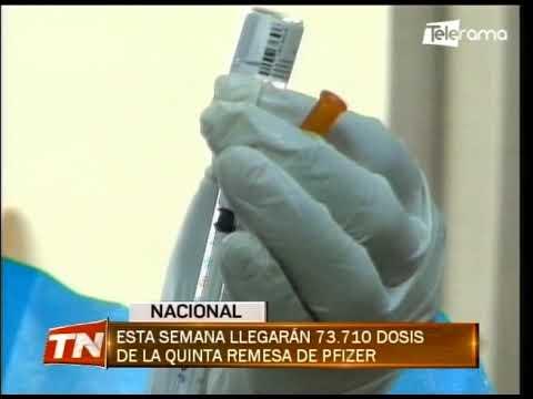 Esta semana llegarán 73.710 dosis de la quinta remesa de Pfizer