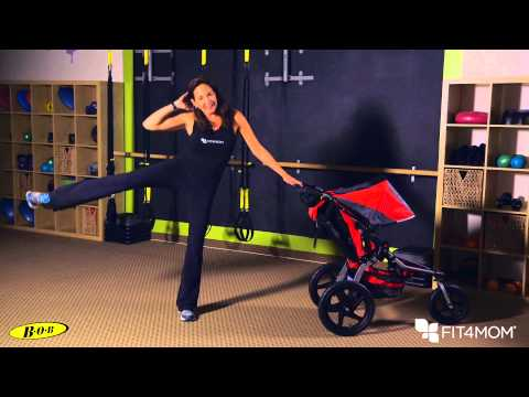 Standing Oblique Crunch - Stroller Strides