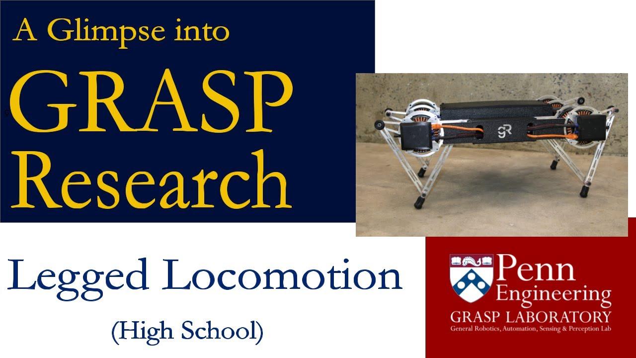 A Glimpse into GRASP Research: Legged Locomotion