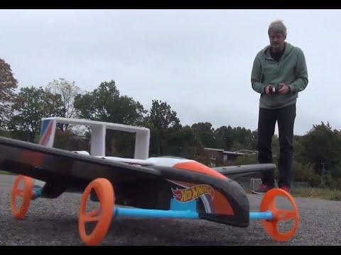 Hot Wheels RC Street Hawk Remote Control Flying Car  — Test Flight