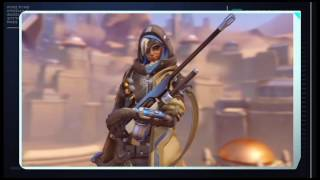 First credits go to a reddit user. (https://www.reddit.com/r/Overwatch/comments/4wxs7e/sombra_arg_winstons_password/d6bgn29) I don't found this!What is this for a object or person behind Ana on top of the buildings? Could you figure it out? I slowed it to 25%! I have no gree-red glasses at home, maybe someone could check the first seconds.