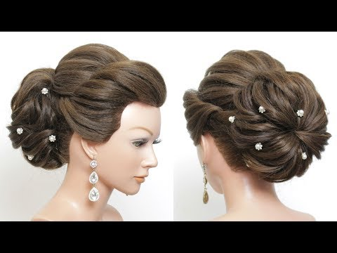 New hairstyle - New Bridal Bun Hairstyle 2019 For Girls. Hair Tutorial
