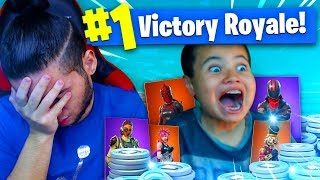 1 KILL = 20,000 VBUCKS FOR MY 9 YEAR OLD BROTHER! 9 YEAR OLD PLAYS SOLO FORTNITE BATTLE ROYALE!