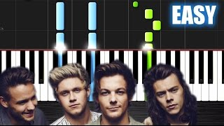 One Direction - Perfect - EASY Piano Tutorial  Ноты и МИДИ (MIDI) можем выслать Вам (Sheet music for