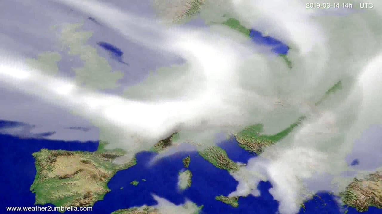 #Weather_Forecast// Cloud forecast Europe 2019-03-13
