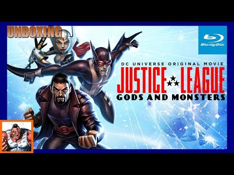 Justice League Gods and Monsters Best Buy Exclusive Blu Ray Unboxing