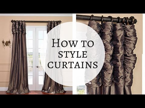 ♥ GLAM CURTAINS ♥ How I style my curtains♥How to style curtains