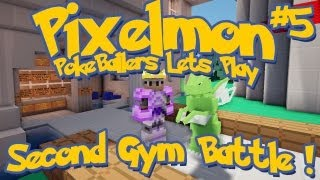 Pixelmon Server Minecraft Pokemon Mod Pokeballers Lets Play! Ep 5, The Second Gym Battle!