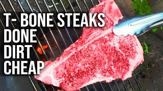 T-Bone Steak done dirt cheap by the BBQ Pit Boys by BBQ Pit Boys