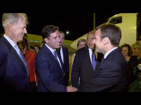 French President Emmanuel Macron and his wife arrived in Bulgaria.
