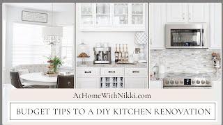 KITCHEN RENOVATION DETAILS: Budget tips to a DIY Kitchen renovation