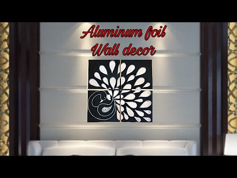 Diy 4-in-1 large aluminum foil wall art/easy room decor/ mostly ...