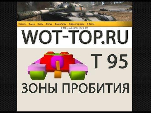 Пробитие Т95 - Видео гайд куда пробивать Т95