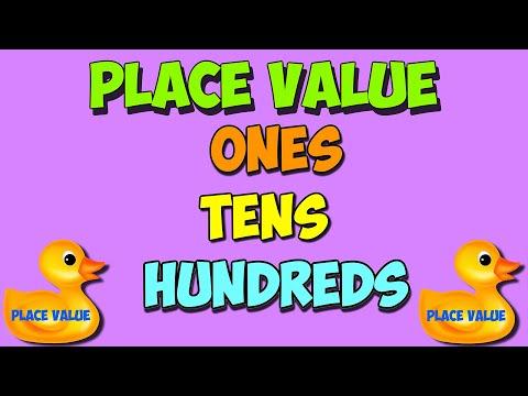 legen Wert math Lied: Einer, Zehner, Hunderte