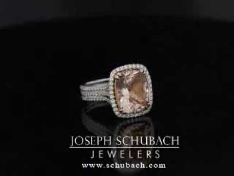 Sareen Morganite Halo Ring