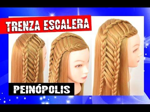 Peinados Con Trenzas Escalera Para Cabello Largo Faciles Y