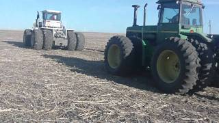 CAPS Farm Manager Tim Harris explains the process of laying tile in a field in southwest Minnesota. He describes the role of GPS...
