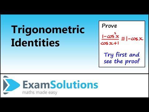 Trigonometrie: Proving trig Identities (Beispiel 2): ??ExamSolutions