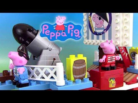 Video peppa pig pirate ship building blocks jeu de for Missile peppa pig