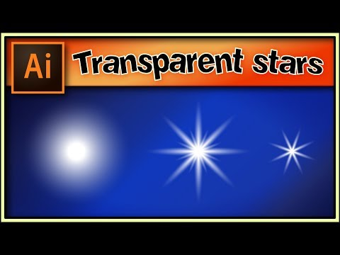 ⭐⭐⭐Transparent Stars Very Quick - Awesome Adobe Illustrator Tutorial