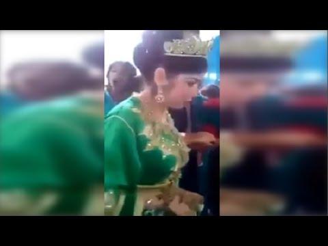 عريس لم يتمالك نفسه عند رؤية عروسه شاهدوا ردة فعله !