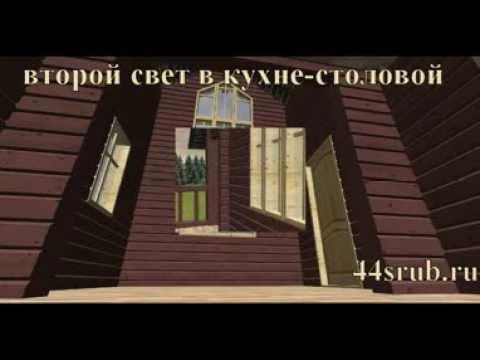 """Дом из бруса со вторым светом, проект """"Венеция"""""""