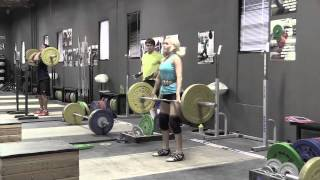 Steve snatch, Danielle clean, Alyssa 3-position clean, Heather 3-position clean, Audra block snatch, Alyssa halting clean deadlift on riser, Jes clean.  - Weight lifting, Olympic, weightlifting, strength, conditioning, fitness, exercise, crossfit - Catalyst Athletics Videos