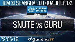 Snute vs Guru - IEM XI Shanghai: Europe Qualifier - Day 2
