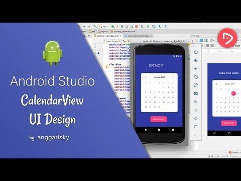 Calendar View Tutorial With Example In Android Studio Tutorial