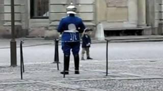 Mały chłopczyk zaczął naśladować ruchy gwardzisty. Reakcja strażnika jest dosłownie bezcenna!
