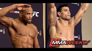 UFC 241 Official Weigh-in: Yoel Romero vs. Paulo Costa by MMA Weekly