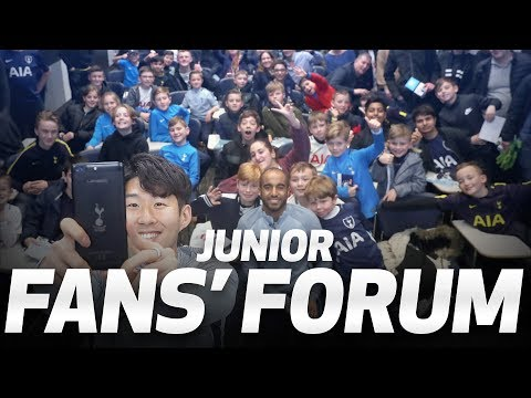 Video: HEUNG-MIN SON AND LUCAS MOURA | JUNIOR FAN FORUM AT HOTSPUR WAY