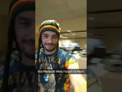 Bob Marley Halloween Costume at work (Wells Fargo)