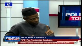 Nigerians Are Fed Up But APC 'Will' Bring Change - Osinbajo Pt5