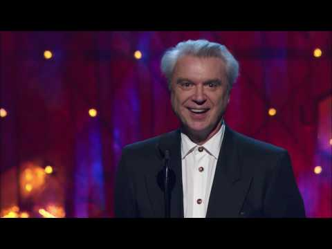 David Byrne Inducts Radiohead at the 2019 Rock & Roll Hall of Fame Induction Ceremony