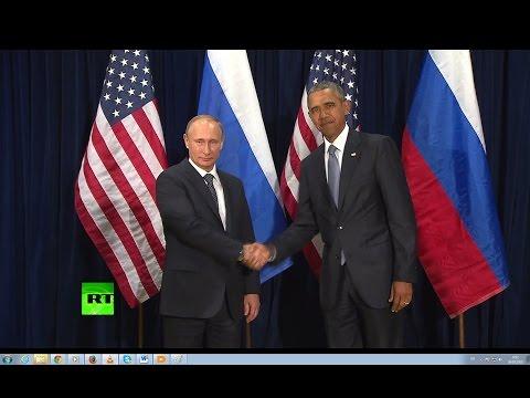 Путин и Обама перед встречей