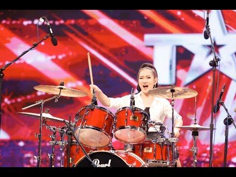 Hot girl đánh trống Mi Ngân - Vietnam's Got Talent 2016