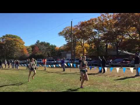The finish of the 2015 UAA Cross Country Championships