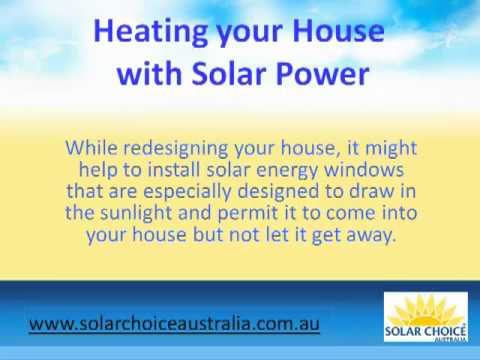 Heat Your Home with Solar Power