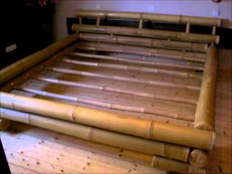 Vorstellung eines Bambusbettes (u.a. Aufbau, Lattenroste usw.)