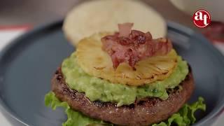 AHUMADOS TOTO- Hamburguesa Premium con Piña y Tocineta