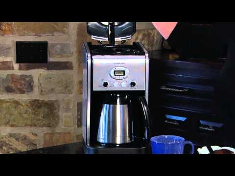 Coffee Maker Demonstrations : Cuisinart Grind & Brew Thermal 10-Cup Automatic Coffeemaker (DGB 650BC) Demo Video Cuisinart ...