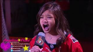 Video Angelica Hale Sings US & Canadian Anthems in Ottawa - NHL Panthers vs Senators MP3, 3GP, MP4, WEBM, AVI, FLV Januari 2019