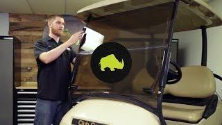 "6. WIN-3015 RHOX 1/4"" Impact Modified Windshield on a Club Car Precedent"